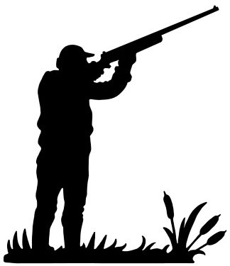 Silhouettte of a Hunter